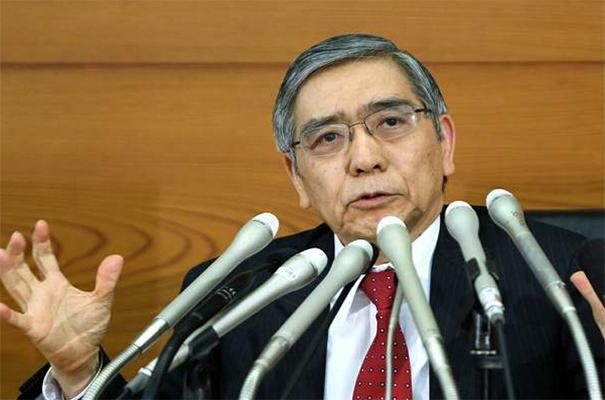 日本央行行长:暂不考虑上调10年期国债收益率目标