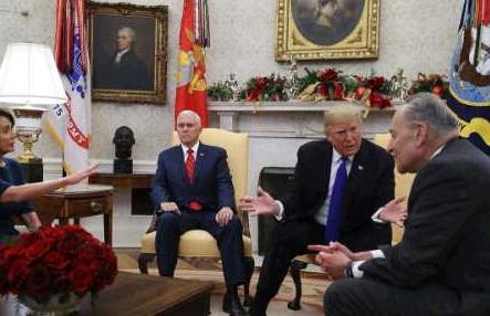 """股票-国会""""修墙""""不给钱? 特朗普:美国政府这就关门"""